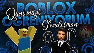I'm learning to play Roblox!! (I Played Slenderman Mode) - Roblox English *2019*