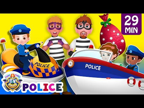 Thumbnail: ChuChu TV Police Chase Thief in Police Boat & Save Huge Surprise Egg Toys Gifts from Creepy Ghosts