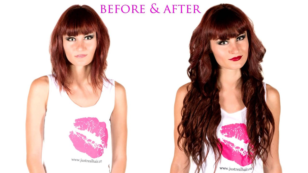 Hair Extensions Before And After Youtube