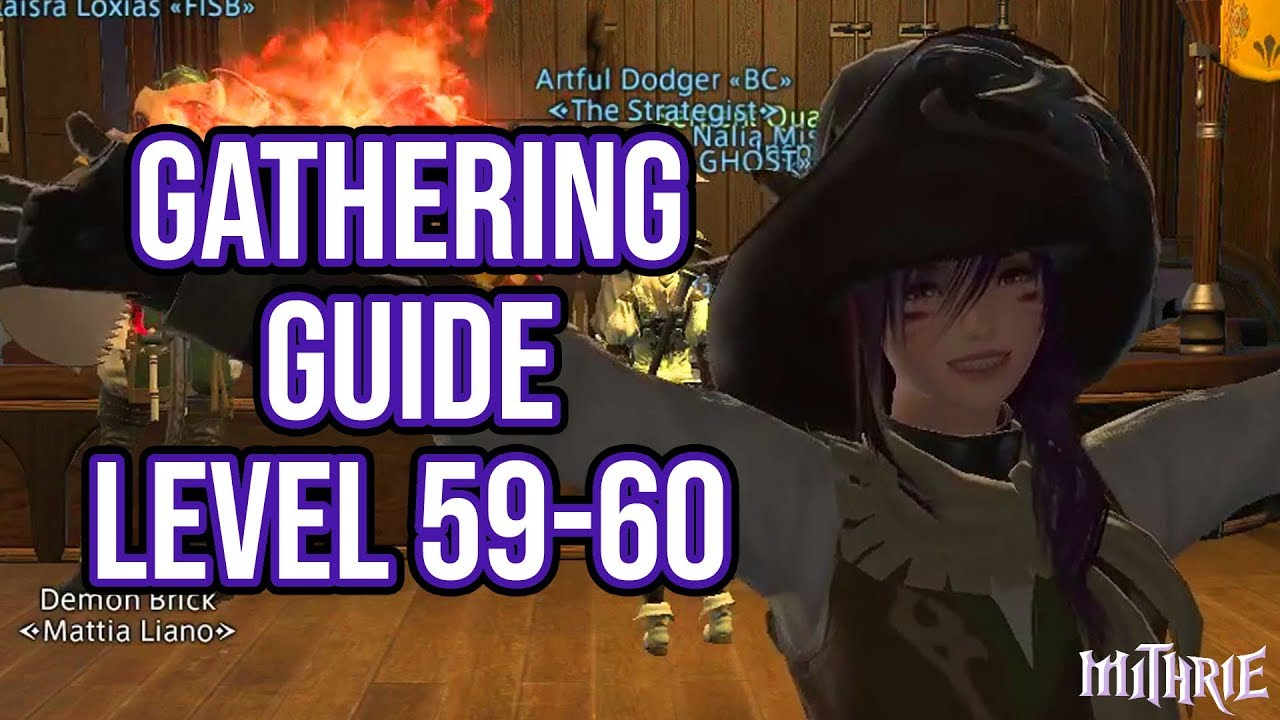 FFXIV 3 0 0690 Gathering Guide Level 59 to 60