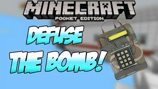 Minecraft Pocket Edition | DEFUSE THE BOMB!! | Time Explosion Puzzle Map! [0.9.4]