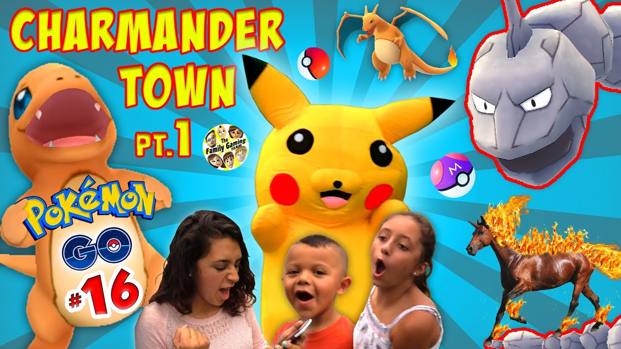 PIKACHU in CHARMANDER TOWN! Family Fun Play Time at the ...