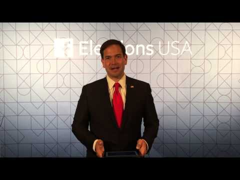 Marco Rubio Does the Facebook 60 Second Challenge