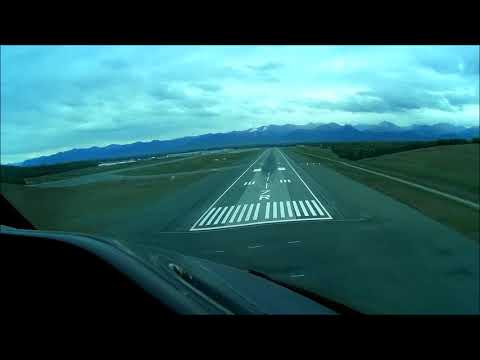 747 Cockpit View, landing at Anchorage's Ted Stevens on 07R(windy day)