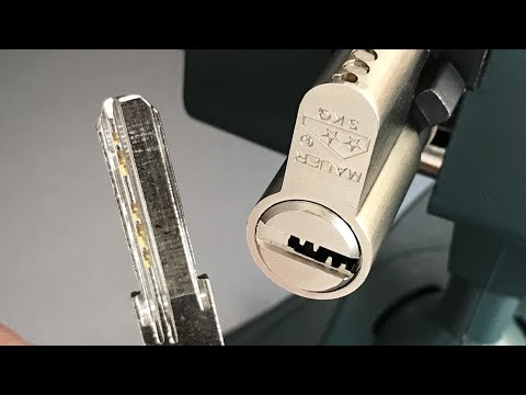 Взлом отмычками MAUER Elite  [520] Mauer Elite Euro Profile Cylinder Picked and Gutted ()
