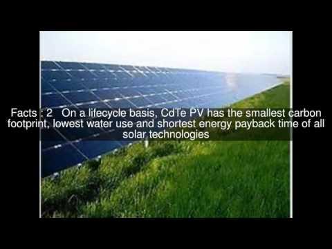 Cadmium telluride photovoltaics Top  #8 Facts
