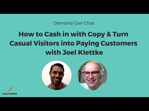 How to Cash in With Copy and Turn Casual Visitors into Paying Customers with Joel Klettke