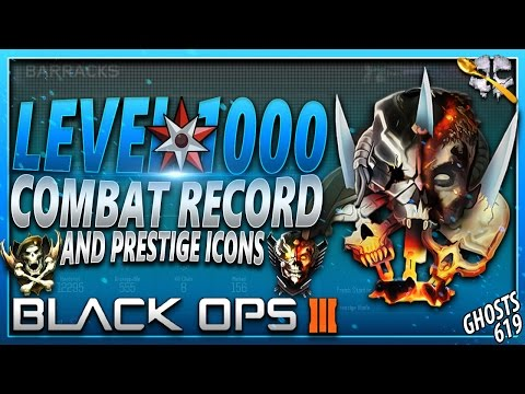 Black Ops 3: Level 1,000 Combat Record and Prestige Icons!