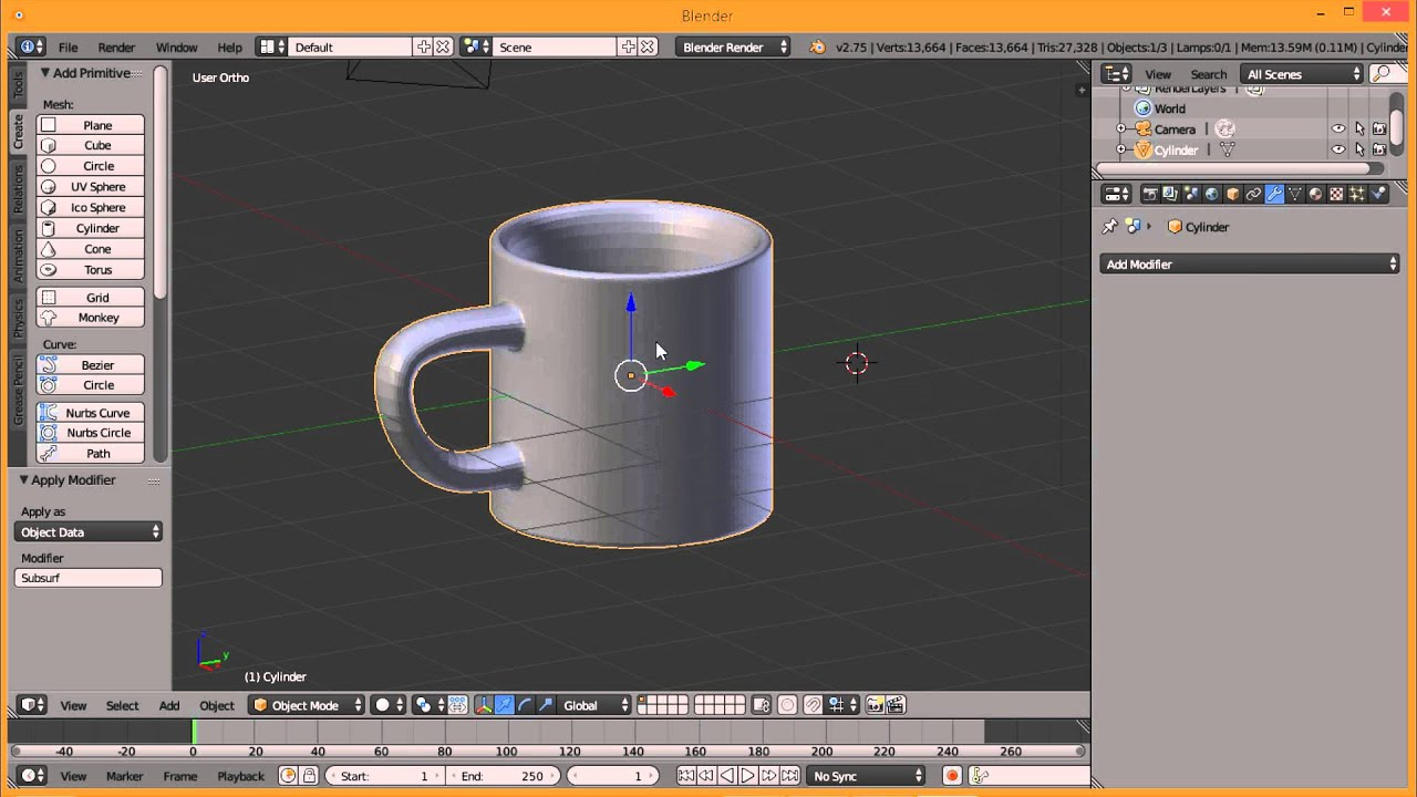 K Tutorial Basic Blender 3d Buat Gelas Cuma 5