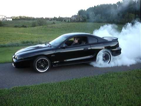 96 Mustang GT burnout  YouTube