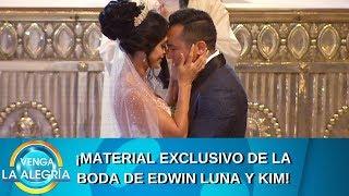 El resumen de la boda de Edwin Luna y Kim. | Programa del 29 de julio de 2019 | Venga La Alegría