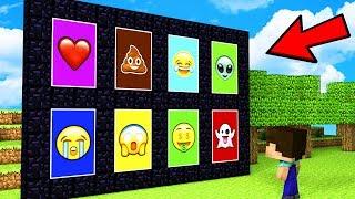 НУБ НАШЕЛ ПОРТАЛЫ ЭМОДЖИ В МАЙНКРАФТ - Троллинг ловушка и испытания нуба Minecraft Emoji Мультик