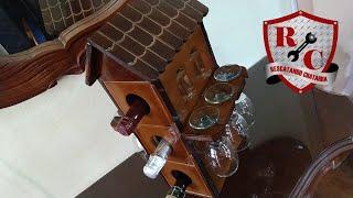 Como hacer Vinera de Madera con porta copas