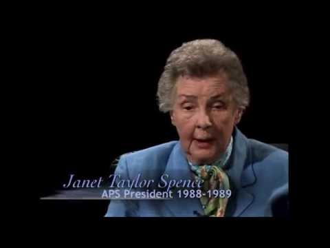 Symposium in Honor of Janet Taylor Spence