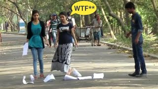Paper Dropping Prank😲😲 Awesome Reaction - PrankBuzz | Prank in India