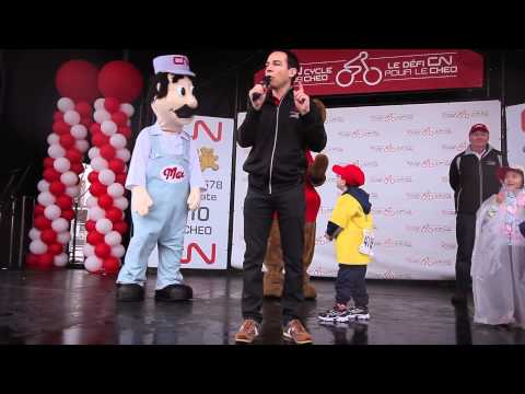 CN Cycle for CHEO - President Alex Munter address the crowd!
