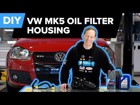 Volkswagen Mk5 GTI Oil Filter Housing Replacement DIY (FSI EA113 Engine)