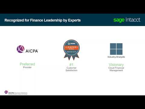 Sage Intacct : An Overview Of Cloud Based Financial Management Solution