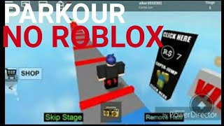 Parkour no Roblox 😆