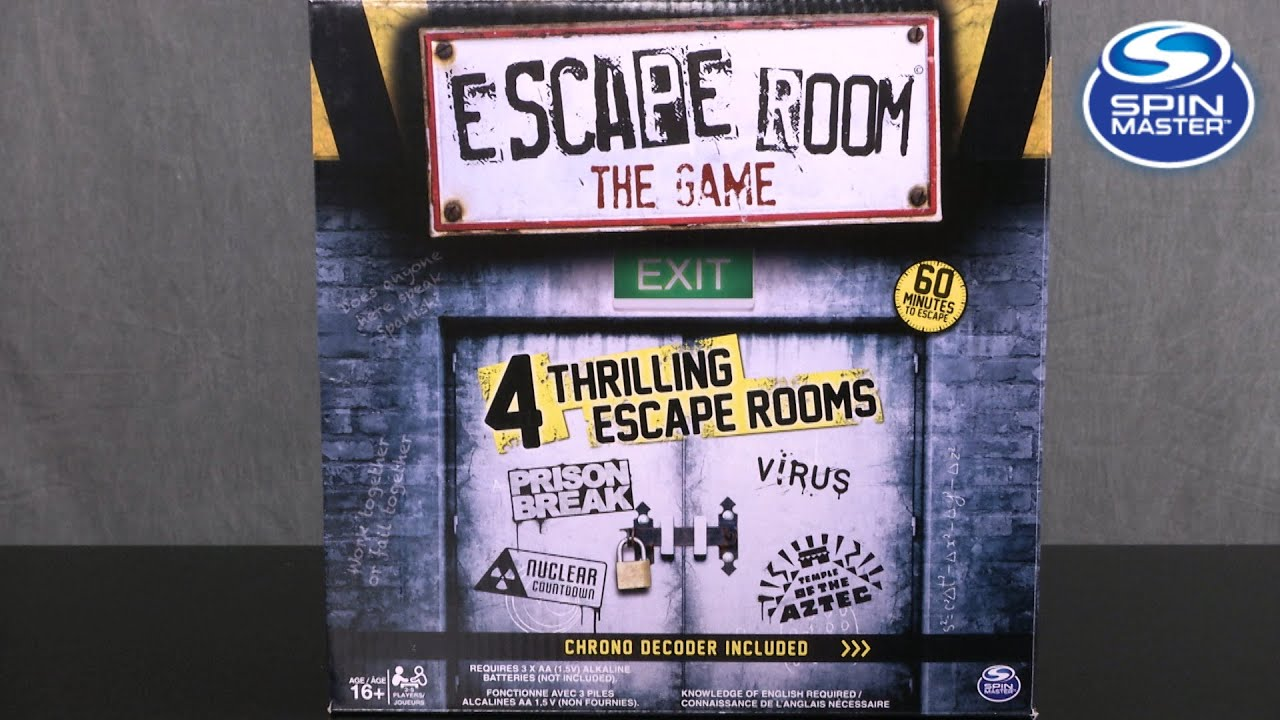 Escape Room the Game from Spin Master - YouTube