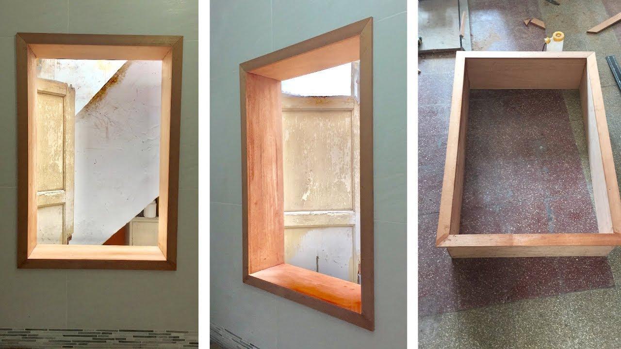 C mo hacer un marco de madera para una ventana youtube for Como hacer una puerta de madera