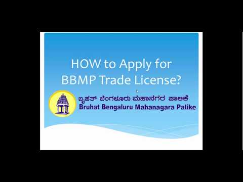 How to Apply for BBMP Trade License