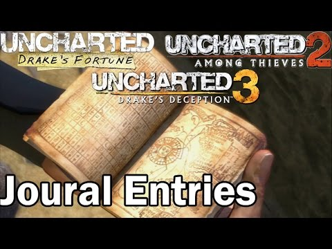 Uncharted: 1, 2, & 3 Journal Entries