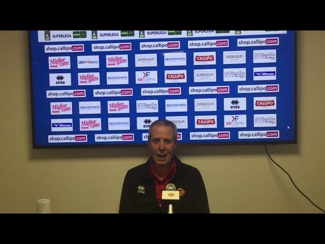 #SuperLega, la conferenza stampa di coach Bagnoli pre-Civitanova