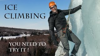Ice Climbing Adventure- Frozen Waterfall Rappel -Discover Ontario
