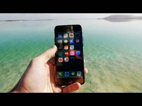 Thumbnail: iPhone 7 in Salty Dead Sea for 24 Hours - Will it Survive?