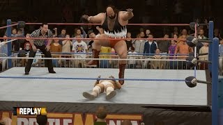 PC世界摔角娛樂WWE 2K16 - 地震哥【Earthquake】Vs. 波·達勒斯[摔角狂熱13][普通規則賽][18/12/'16]