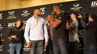 UFC 218 Media Day: Alistair Overeem vs. Francis Ngannou Staredown