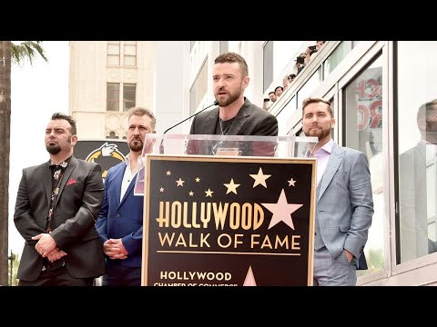 Watch *NSYNC Deliver Heartfelt Speeches At Hollywood Walk Of Fame Ceremony