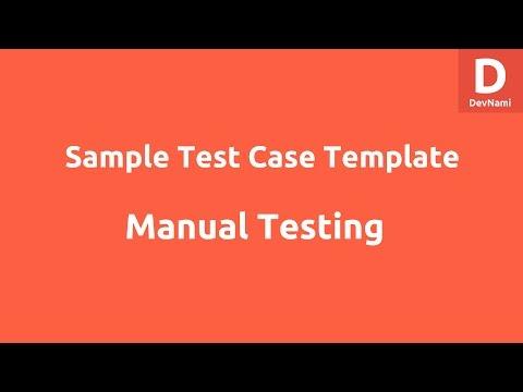 Sample Test Case Template Excel
