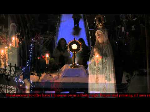 """""""We Three Kings Of Orient Are"""", sung by the congregation. A Day With Mary"""