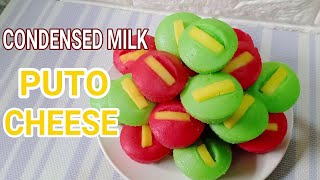 Condensed Milk Puto Cheese ll How to make Condensed Milk Puto Cheese Recipe