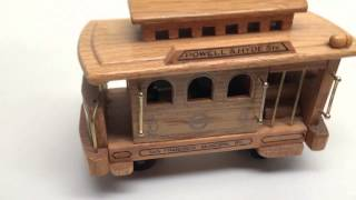"Vintage San Francisco Wood Cable Car Wind-up Music Box, Plays ""i Left My Heart In"" Connectibles"