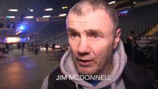 JIM McDONNELL ON JAMES DeGALE'S CONDITION, & COMPARES JAMES DeGALE MENTALITY TO MARVIN HAGLER