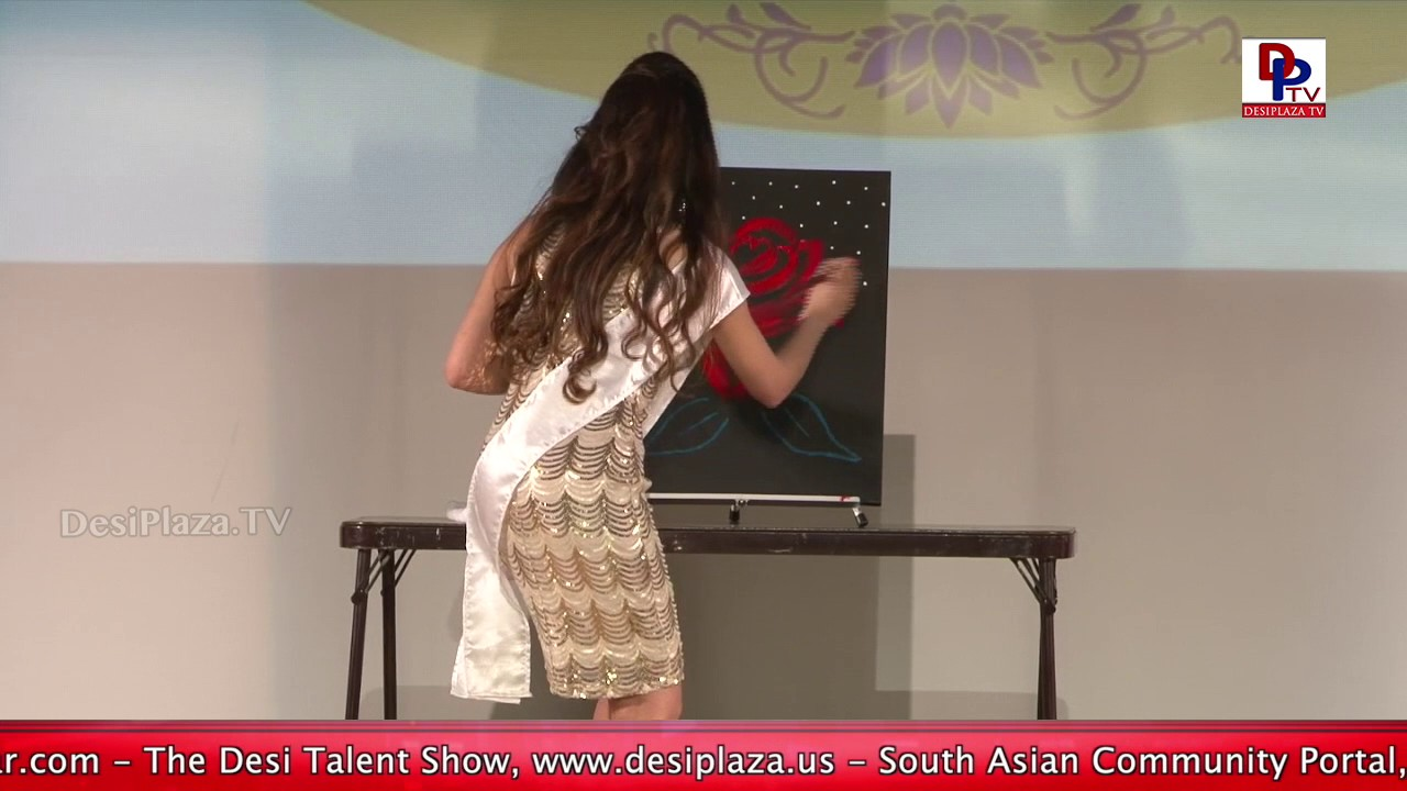 Excellent Painting by a Contestant at Bollywood Pageant 2017 || Pooja Batra || DesiplazaTV