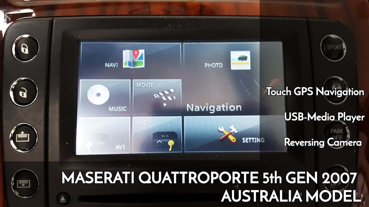 aus 2007 maserati quattroporte audio upgraded with touch gps navi reversing camera and dvd player [ 1280 x 720 Pixel ]