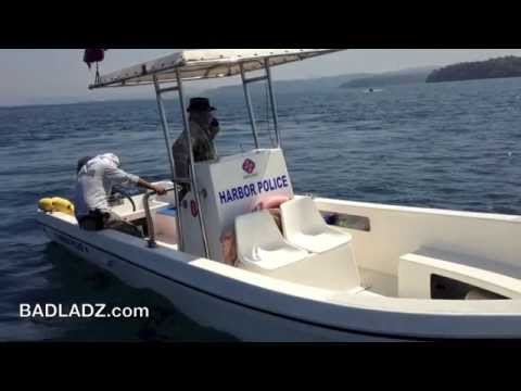 Subic Bay Harbor Police Protect Illegal Salvage Divers March 2014