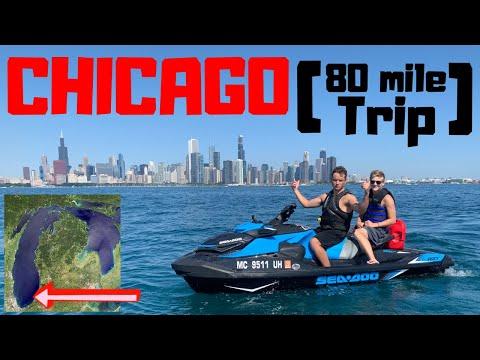 Jet Skiing Across LAKE MICHIGAN To CHICAGO