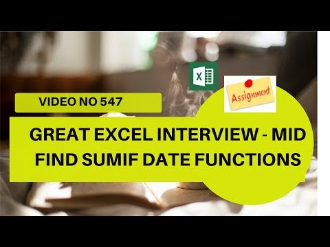 Learn Excel Video 547 - Cracking EXCEL interview - SUMIF FIND MID