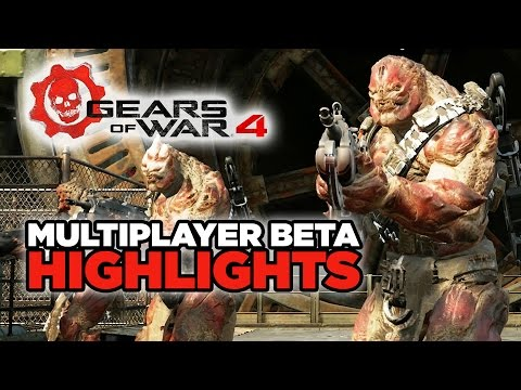 Gears of War 4 Beta - Multiplayer Highlights