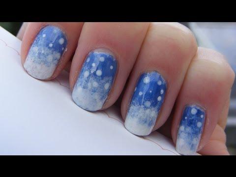 Easy Winter Snow Nail Art Tutorial Youtube