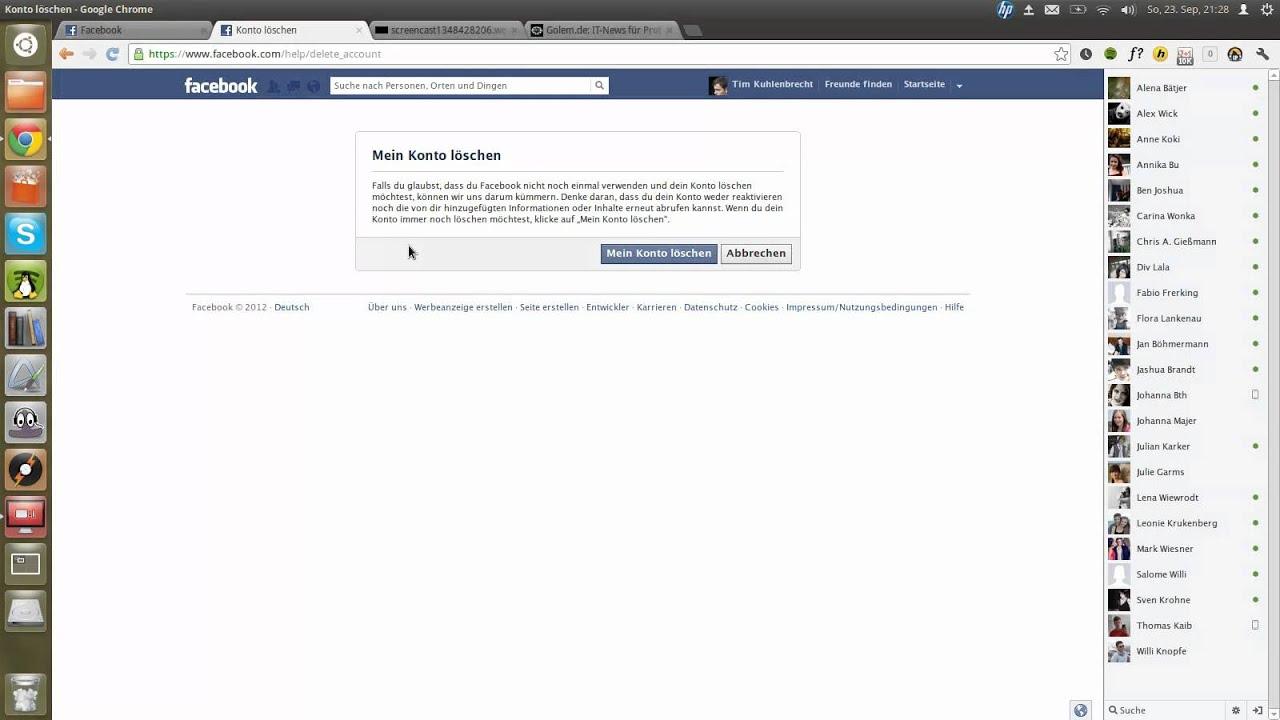 Leben ohne Facebook -- Ich lösche meinen Account - YouTube