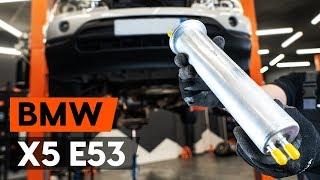 Cum schimb Filtru combustibil BMW X5 (E53) - tutoriale video