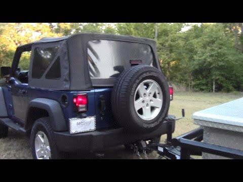 Jeep Wrangler 0715 Trailer Hitch Install YouTube