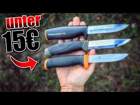 3 GÜNSTIGE Anfänger Messer für unter 15€ - Survival Bushcraft Ausrüstung | Fritz Meinecke - Gear
