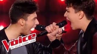 Axel Bauer - Éteins la lumière | Hadrien Collin VS Antoine | The Voice France 2016 | Battle